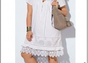 chemise de nuit coton courte blanc femme