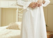 chemise de nuit longue blanche en coton