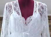 chemise de nuit longue dentelle blanche