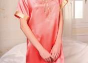 chemise de nuit soie courte