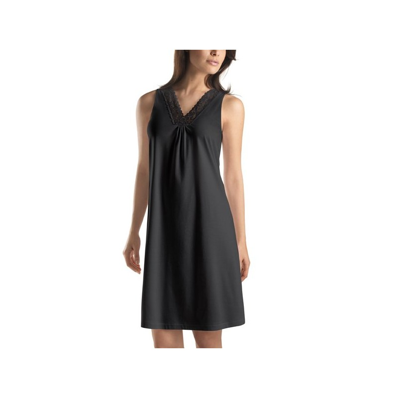 magasin d'usine 434b6 0a287 nuisette coton longue noir femme