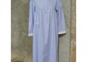robe de nuit coton longue blanc fille