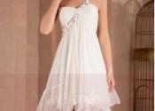 robe de nuit pas cher courte blanc