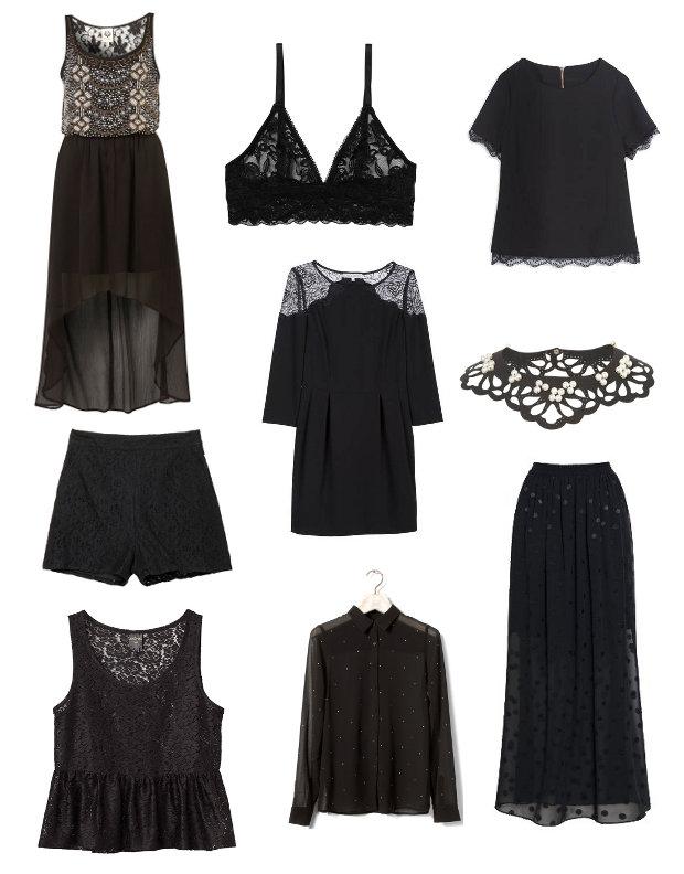 tendance 2014 chemise de nuit pas cher longue noir. Black Bedroom Furniture Sets. Home Design Ideas