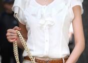Tendance 2014 chemise de nuit soie courte blanc femme