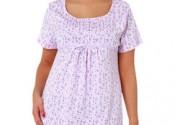 Tendance 2014 robe de nuit coton grande taille blanc