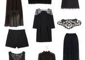 Tendance 2014 robe de nuit pas cher courte noir