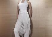 Tendance 2014 robe de nuit satin longue blanc