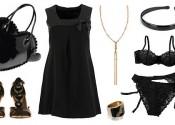 Tendance 2014 robe de nuit satin longue noir femme