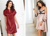 Tendance 2014 robe de nuit soie grande taille rouge femme
