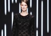 Tendance 2014 robe de nuit soie longue noir