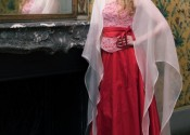 Tendance 2014 robe de nuit soie longue rouge femme