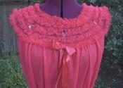 Tendance chemise de nuit soie courte rouge