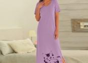 Tendance robe de nuit pas cher longue blanc