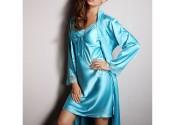 Tendance robe de nuit soie longue fille
