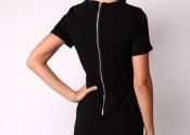 chemise de nuit pas cher longue noir femme