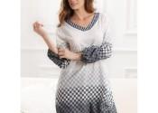 chemise de nuit soie courte blanc fille