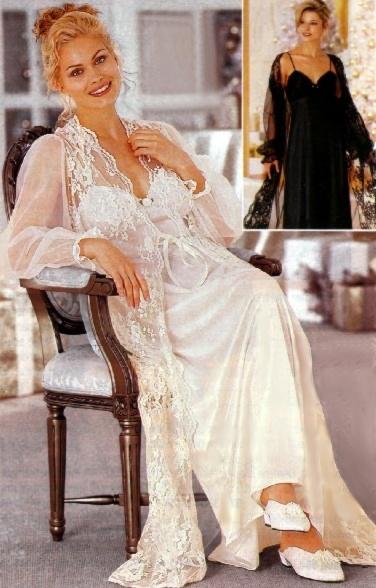 Connu nuisette satin longue blanc femme PV85