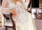 nuisette soie longue blanc femme