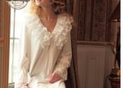 robe de nuit coton longue blanc femme