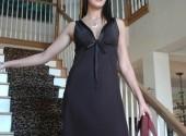 robe de nuit satin courte noir