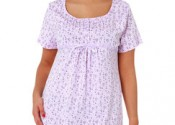 Tendance 2014 robe de nuit coton courte blanc