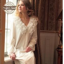 Tendance robe de nuit coton courte blanc