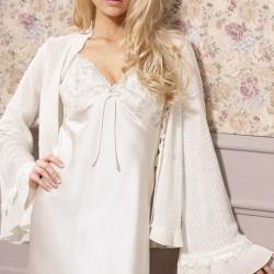 Tendance robe de nuit satin longue blanc femme