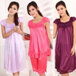 Tendance robe de nuit soie grande taille femme